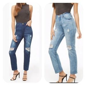 2019 NWT Forever 21 boyfriend distressed jeans
